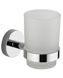 General Hotel Chrome Wall-Mounted Frosted Glass Toothbrush Holder