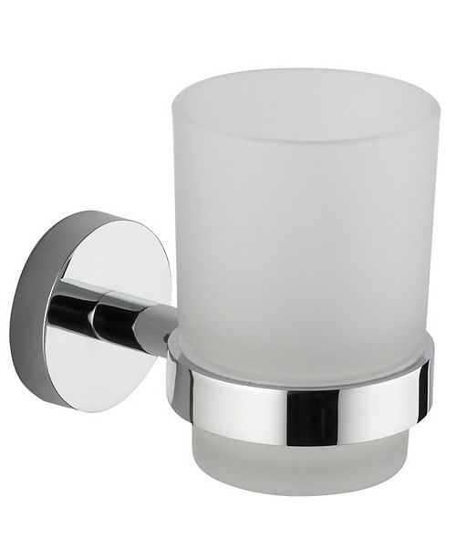 Nameeks General Hotel Chrome Wall-Mounted Frosted Glass Toothbrush Holder