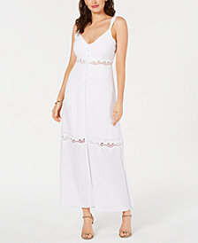 GUESS Waiverly Crochet-Trim Maxi Dress