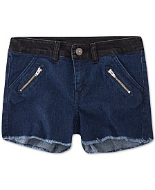 Levi's® Little Girls Colorblocked Zipper Shorts