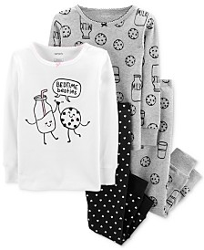 Carter's Toddler Girls 4-Pc. Cotton Milk & Cookies Pajamas Set