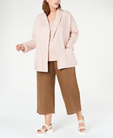 Eileen Fisher Plus Size Open-Front Jacket & Camisole