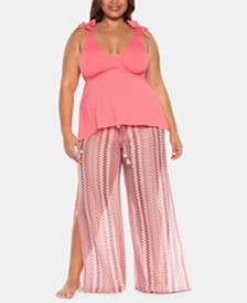 Becca ETC Plus Size Tankini Top & Cover-Up Pants