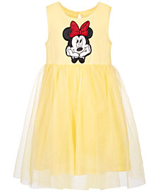 Disney Little Girls Bow-Back Minnie Mouse Dress, Created for Macy's