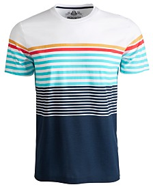 American Rag Men's Colorblocked Variegated Stripe T-Shirt, Created for Macy's