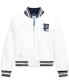 Polo Ralph Lauren Big Girls Chino Baseball Jacket