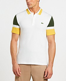 Men's Slim-Fit Stretch Colorblocked Polo Shirt