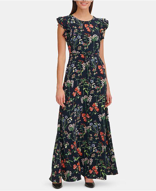 Tommy Hilfiger Gala Floral Belted Maxi Dress