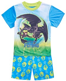 Little & Big Boys 2-Pc. How to Train Your Dragon Graphic Pajamas