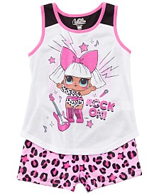 AME Little & Big Girls 2-Pc. LOL Surprise Graphic Pajamas