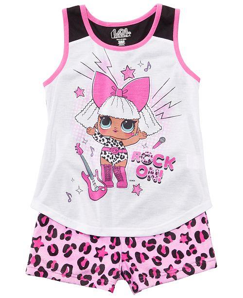AME Little & Big Girls 2-Pc. LOL Surprise Graphic Pajamas