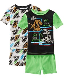 AME Little & Big Boys 2-Pack Jurassic World Graphic Cotton Pajamas