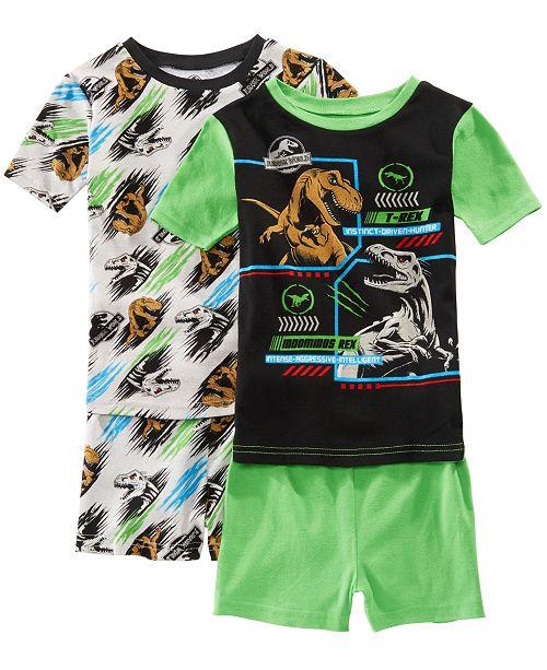 AME Little & Big Boys 2-Pack Jurassic World Graphic Cotton Pajamas
