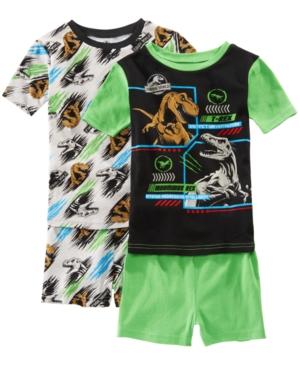 Image of Ame Little & Big Boys 2-Pack Jurassic World Graphic Cotton Pajamas