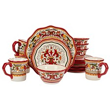 CLOSEOUT! San Marino Red 16PC Dinnerware Set