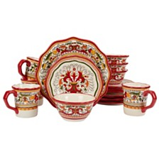 Tabletops Unlimited San Marino Red 16PC Dinnerware Set
