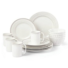Charlotte Street East Grey 16-PC Dinnerware Set, Service for 4