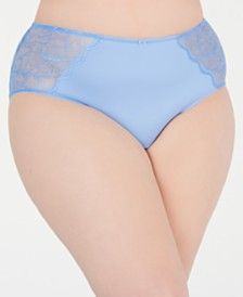 I.N.C. Women's Plus Size Lace-Trim Hipster, Created for Macy's