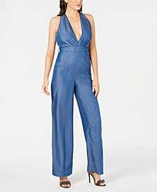 Sienna Plunging Chambray Jumpsuit