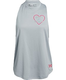 Under Armour Big Girls Heart Tank
