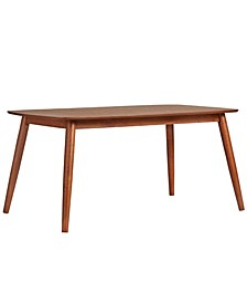 "Larvik Mid-Century Danish Modern Tapered 63"" Dining Table"
