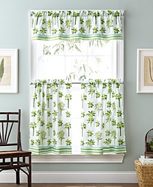 "Tropical Palm 36"" Window Tier Set"