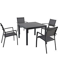"Naples 5-Piece Square Dining Set - 29"" x 38"" x 56.28"""