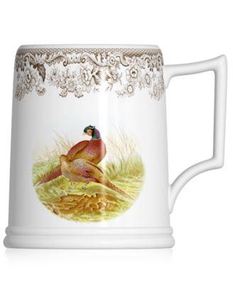Dinnerware, Woodland Tankard Beer Mug Pheasant