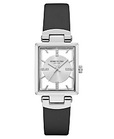 Kenneth Cole New York Ladies' Leather Strap with Rectangle Dial, 25 x 30MM