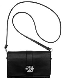 Giani Bernini Nappa Leather Flap Crossbody, Created for Macy's