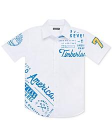 Big Boys Plaistow Modern-Fit Stretch Logo Shirt