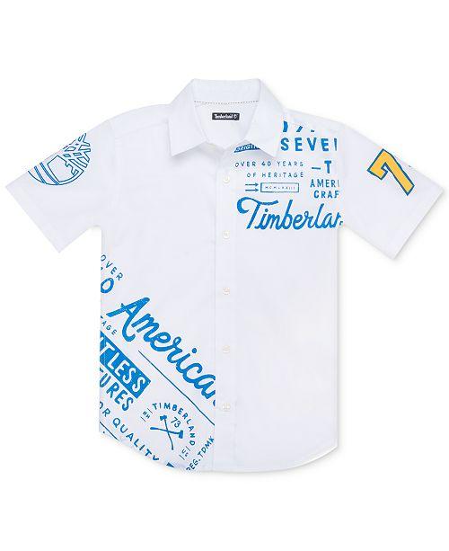 Timberland Big Boys Plaistow Modern-Fit Stretch Logo Shirt