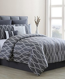 Brandy 8 Piece California King Comforter Set