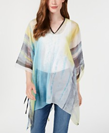 Calvin Klein Abstract Cloud Chiffon Poncho