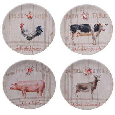 Farmhouse Dessert Plates, Set of 4