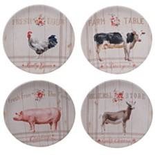 Certified International Farmhouse Dessert Plates, Set of 4