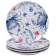 Nautical 4pc Dinner Plate