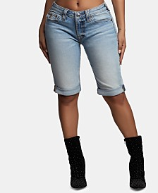 True Religion Jennie Cuffed Bermuda Shorts