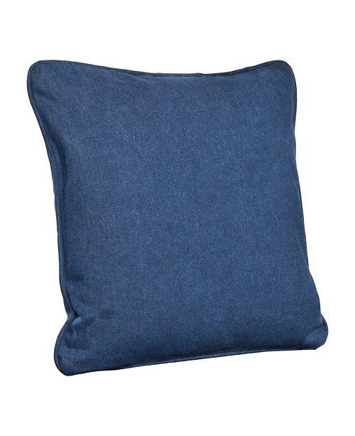 "Siscovers Denim Indio 16"" Designer Throw Pillow"