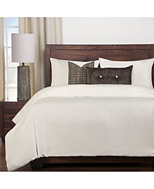 Harbour Shell White 6 Piece Cal King Duvet Set