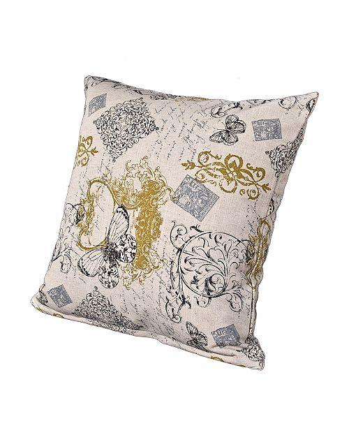 "Siscovers Meritage 16"" Designer Throw Pillow"