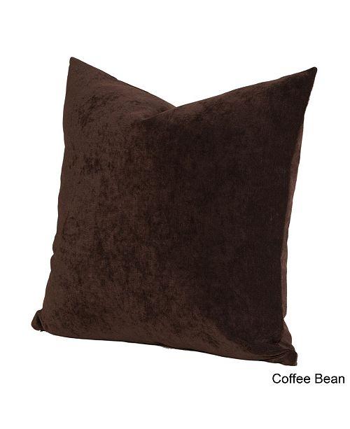"Siscovers Padma Coffee Bean 26"" Designer Euro Throw Pillow"