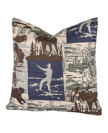 "North Shore 26"" Designer Euro Throw Pillow"