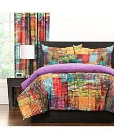 Etch 5 Piece Twin Luxury Duvet Set