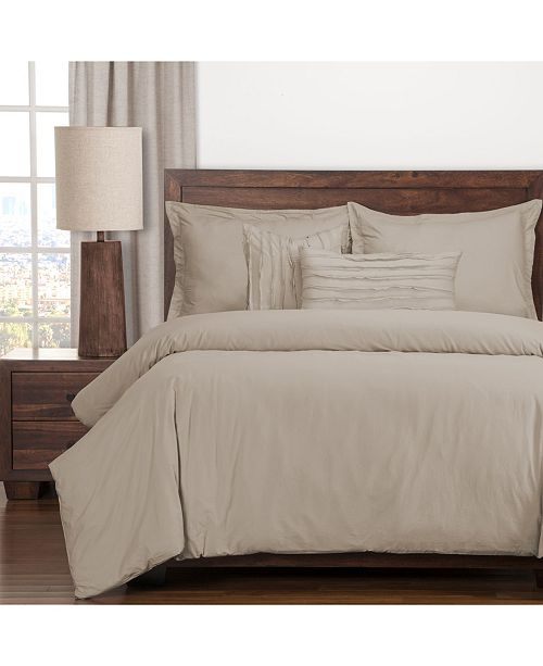 Siscovers Classic Cotton Almond 6 Piece Full Size Luxury Duvet Set