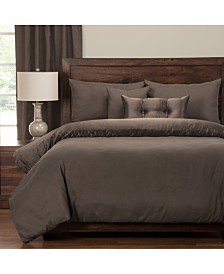 Pologear Gateway Peppercorn Embossed 6 Piece Cal King High End Duvet Set