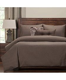 Saddleback Brown 6 Piece King Luxury Duvet Set
