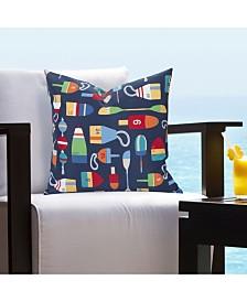 """Siscovers Bouy Indoor-Outdoor 16"""" Designer Throw Pillow"""