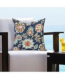 Indoor-Outdoor Magnolia Floral Designer Throw Pillow