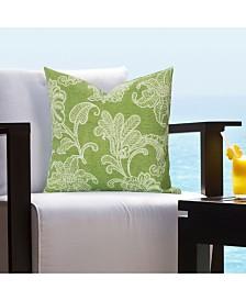 """Siscovers Veranda Citrus Indoor-Outdoor 16"""" Designer Throw Pillow"""